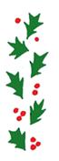 holly free christmas clip art border 2