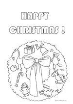 free christmas coloring page wreath