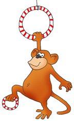 funny monkey drawings gymnastic
