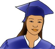 graduation clipart girl hat mantle