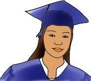 graduation clipart girl hat mantle