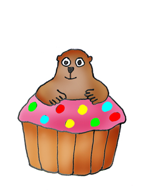 Groundhog Day cup cake
