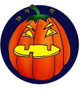 pumpkin head at night