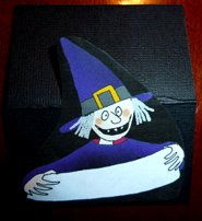Halloween crafts witch as table place card