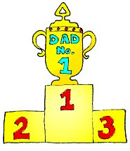 First price dad god trophy clipart