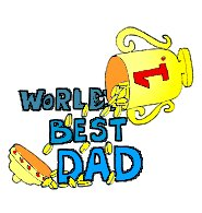 worlds best dad god trophy