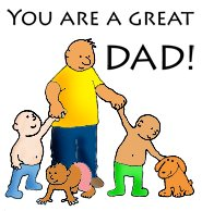 happy fathers day many children color