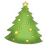 holiday clip art Christmas tree star