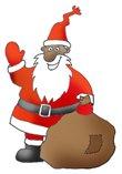 holiday clipart Santa with sack