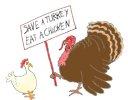 holiday clipart save a turkey bird