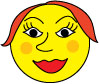 lady smiley face clipart