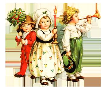 little children celebrating Christmas