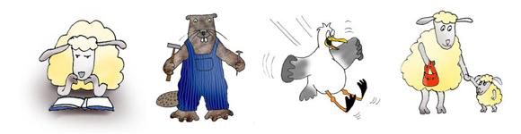 medical cartoons cartoon animals