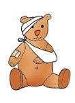 medical cartoons clipart teddy bear