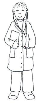 medical clipart male doctor sketch