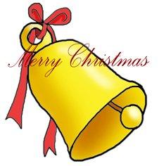 Merry Christmas clip art bell