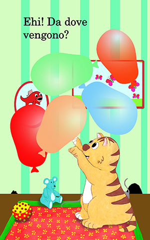 my books Mons plays with balloons