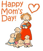 mothers day graphic many children different colors