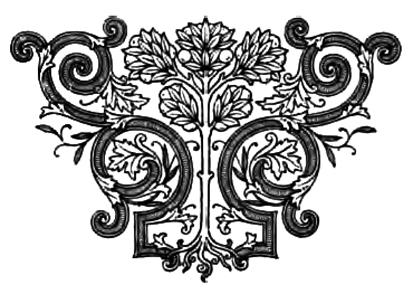 Victorian decor ornament
