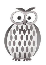owl clip art black white owl