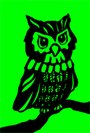 owl clip art green background drawing