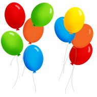 party clipart balloons