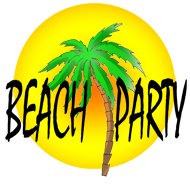 party clip art beach party sun palm