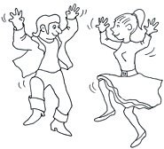 party clip art dancing rock