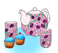 party clip art tea party cupcakes