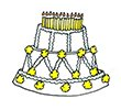40th birthday party cake
