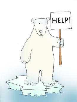 endangered polar bears sign help