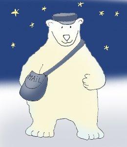 Polar  bear clipart mailman northpole