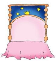 Princess border bed clip art