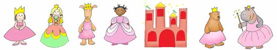 princess party ideas border with clip art