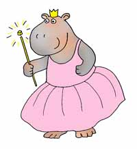hippo princess with magic wand