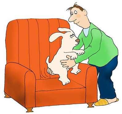 illustration for my books puppy training