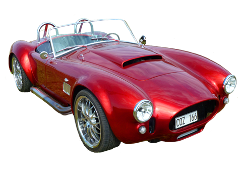 red classic sportscar