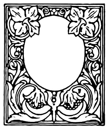 rich ornamented frame black white