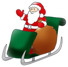 father christmas santa in sleigh