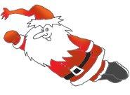 father christmas as super santa