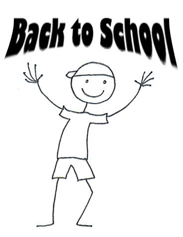 school clipart back to school sketch