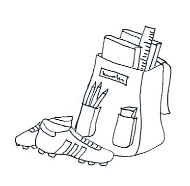 school clip art football boots satchel