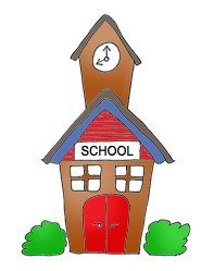 school clipart school building color