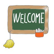 school clipart blackboard welcome