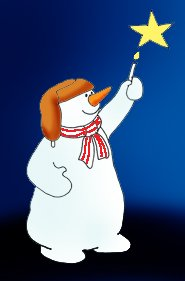 snowman clipart lightning star