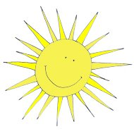 spring clipart happy sun