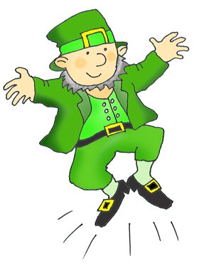 Leprechaun dansing st. patricks day