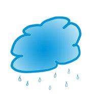 summer graphics raining blue cloud
