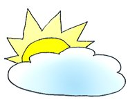 summer clipart sun and cloud