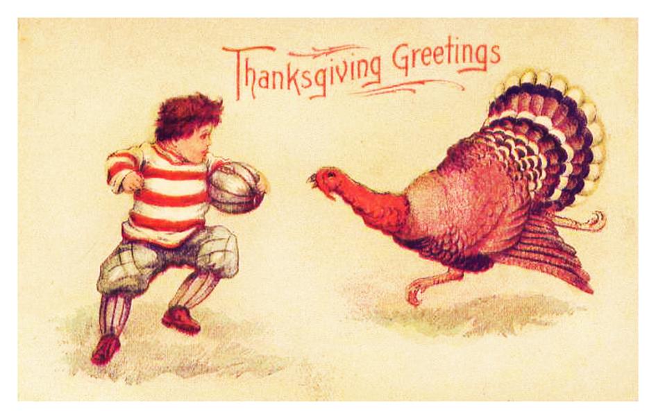 Thanksgiving greeting card old